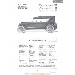 Hal Twelve Touring 25 Fiche Info 1918