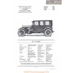 Hcs Sedan Fiche Info 1922