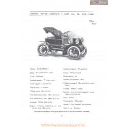 Hewitt Model Runabout Fiche Info 1906