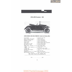 Hollier Roadster 158 Fiche Info Mc Clures 1916