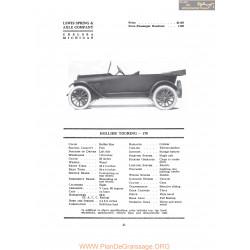 Hollier Touring 178 Fiche Info 1917