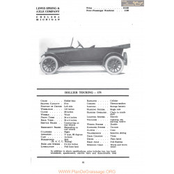 Hollier Touring 178 Fiche Info Mc Clures 1917