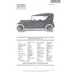 Hollier Touring 188 Fiche Info 1918