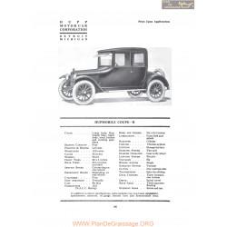Hupp Hupmobile Coupe R Fiche Info 1919