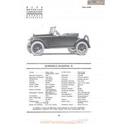 Hupp Hupmobile Roadster R Fiche Info 1920