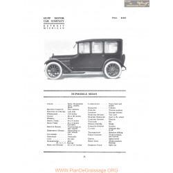 Hupp Hupmobile Sedan Fiche Info 1916