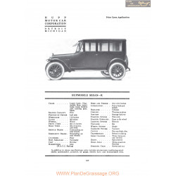 Hupp Hupmobile Sedan R Fiche Info 1919