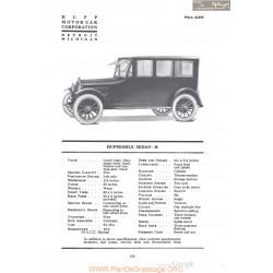 Hupp Hupmobile Sedan R Fiche Info 1920