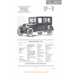 Hupp Hupmobile Sedan Rq Fiche Info 1922