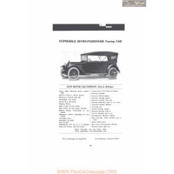 Hupp Hupmobile Seven Passenger Touring Car Fiche Info Mc Clures 1916