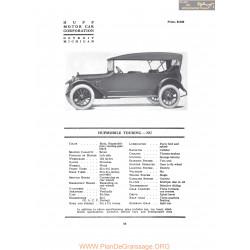 Hupp Hupmobile Touring Nu Fiche Info 1917