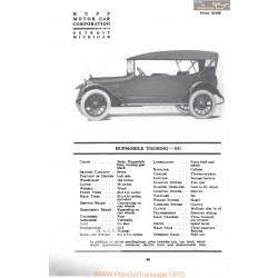 Hupp Hupmobile Touring Nu Fiche Info Mc Clures 1917