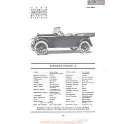 Hupp Hupmobile Touring R Fiche Info 1920