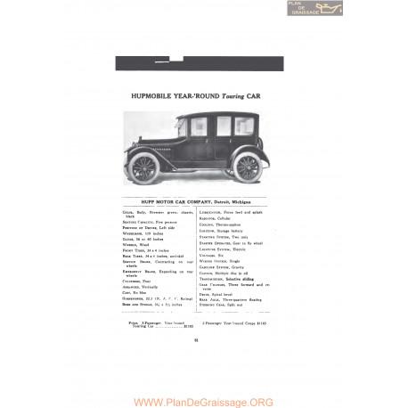 Hupp Hupmobile Year Round Touring Car Fiche Info 1916 V2