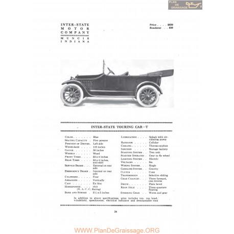 Inter State Touring Car T Fiche Info 1916