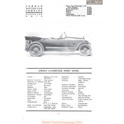 Jordan 4 Passenger Sport Model Fiche Info 1917