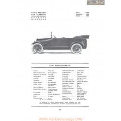 King Challenger E Fiche Info 1916