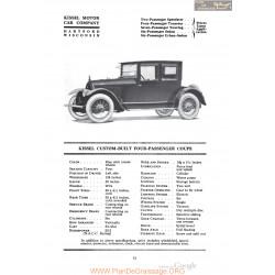 Kissel Custom Built Four Passenger Coupe Fiche Info 1920