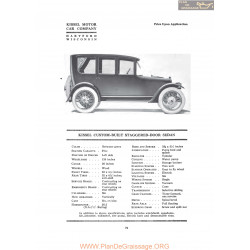 Kissel Custon Built Staggered Door Sedan Fiche Info 1919