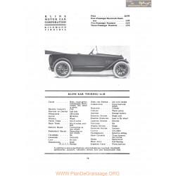 Kline Kar Touring 6 38 Fiche Info 1917