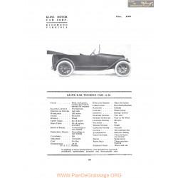 Kline Kar Touring Car 6 26 Fiche Info 1916