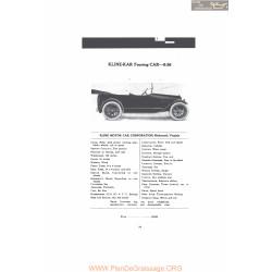 Kline Kar Touring Car 6 36 Fiche Info 1916