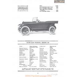 Kline Kar Touring Series 6 38 Fiche Info 1918