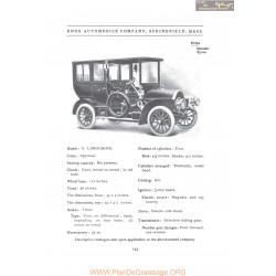 Knox Model G Limousine Fiche Info 1907