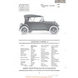 Lexington Clubster O Fiche Info 1918