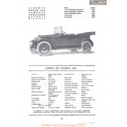 Liberty Six Touring 10b Fiche Info 1918