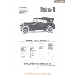 Locomobile 38 Touring Car R6 Fiche Info 1916