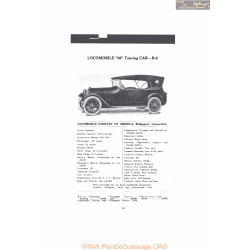 Locomobile 38 Touring Car R6 Fiche Info Mc Clures 1916