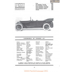 Locomobile 38 Touring R7 Fiche Info Mc Clures 1917