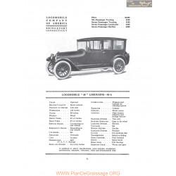 Locomobile 48 Limousine M6 Fiche Info 1916