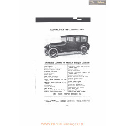 Locomobile 48 Limousine M6 Fiche Info Mc Clures 1916