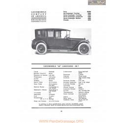 Locomobile 48 Limousine M7 Fiche Info 1917