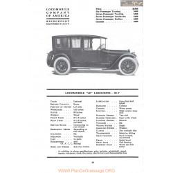 Locomobile 48 Limousine M7 Fiche Info Mc Clures 1917