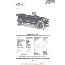 Lorraine Touring Fiche Info 1920