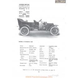 Lozier H Touring Fiche Info 1910