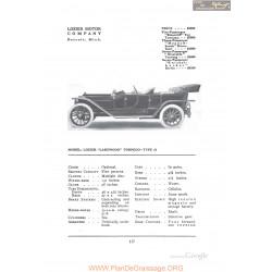 Lozier Lakewood Torpedo Type 51 Fiche Info 1912