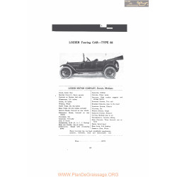 Lozier Touring Car Type 82 Fiche Info Mc Clures 1916