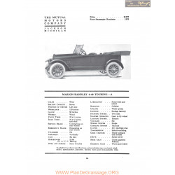 Marion Handley 6 40 Touring A Fiche Info 1917