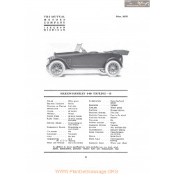 Marion Handley 6 60 Touring B Fiche Info 1917