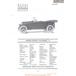 Marion Handley 6 60 Touring B Fiche Info 1918