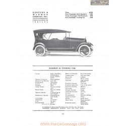 Marmon 34 Touring Car Fiche Info 1916