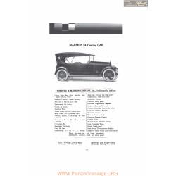 Marmon 34 Touring Car Fiche Info Mc Clures 1916