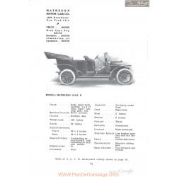 Matheson 1910 Serie E Fiche Info 1910