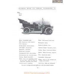 Matheson 60 56 Touring Fiche Info 1906
