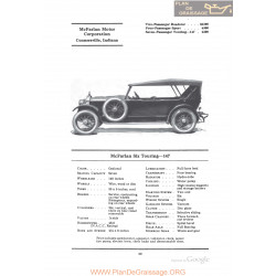Mc Farlan Six Touring 147 Fiche Info 1922