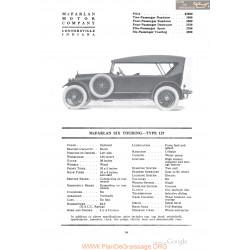 Mc Farlan Six Touring Type 127 Fiche Info 1918